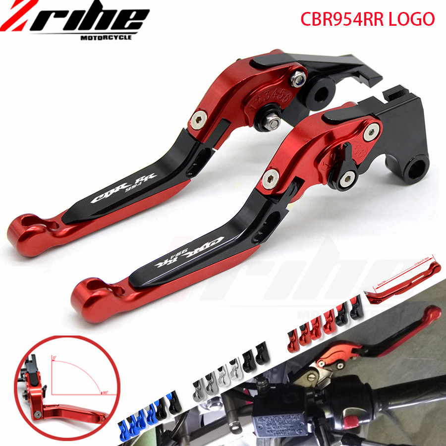 for Motorcycle CNC Brake Clutch Levers For Honda CBR600RR CBR 600RR 2003-2006 CBR954RR CBR 954 RR CBR 954RR 2002 2003 handle ba motorcycle short brake clutch levers for honda 1993 1999 cbr 900rr