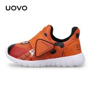 Image 4 - UOVO 2020 חדש לפעוטות נעלי בנים ובנות נעליים יומיומיות סתיו לנשימה ילדים קטנים נעליים חמוד ילדים של הנעלה גודל 22 # 30
