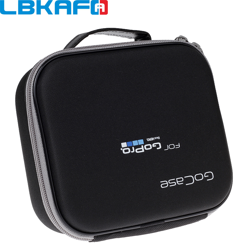 LBKAFA para Gopro accesorios caso de Eva Hard Bag caja para Go Pro Hero 6 + 5 4 3 SJCAM SJ4000 SJ6 SJ7 SJ5000 Eken XiaoYI