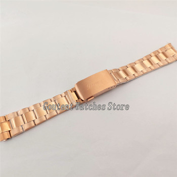 20mm Watch bracelet Rose Gold Stainless Steel Band  Fit Parnis 40mm Sub watch P894