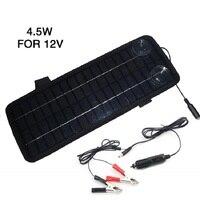 12 В 4.5 Вт Панели солнечные Портативный монокристаллический Солнечный Зарядное устройство для автомобиля лодке автомобильной Перезаряжаем...