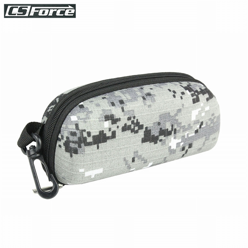 Tactical EVA Molle Sunglasses Box Camouflage Portable Zipper Goggle Box Glasses Storage Case Outdoor Eyewear Accessory Bags