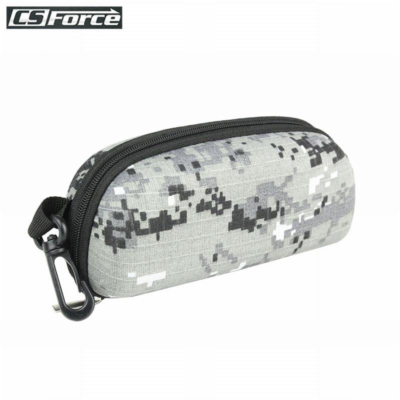 Tactical EVA Molle Sunglasses Box Camouflage Portable Zipper Goggle Box Glasses Storage Case Outdoor Eyewear Accessory Bags