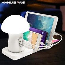 10 W QI Caricatore Senza Fili Con Lampada Da Tavolo Carica Rapida 3.0 del Caricatore del USB Per il iphone X 8 Samsung S10 S9 più Xiaomi Veloce Caricatore Del Telefono