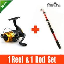 Telescopic carbon fishing rod fishing rods and spinning reel fishing gear ensemble 2.1M-3.6M free shipping