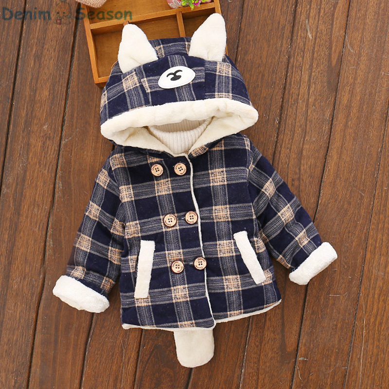 DenimSeason 2018 Winter Baby Clothing Baby Coat Casaco Infantil Baby Poncho Baby Boys Clothes Lattic Cashmere Fur Girls Coat baby children winter kids boys girls double side wear hoodie cloak baby clothes bebe poncho cape coat outerwear