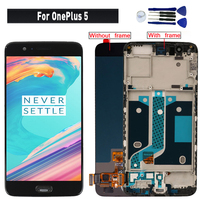 Original SUPER AMOLED For OnePlus 5 A5000 display lcd Screen replacement for OnePlus 5 1+ 5 lcd display touch screen module