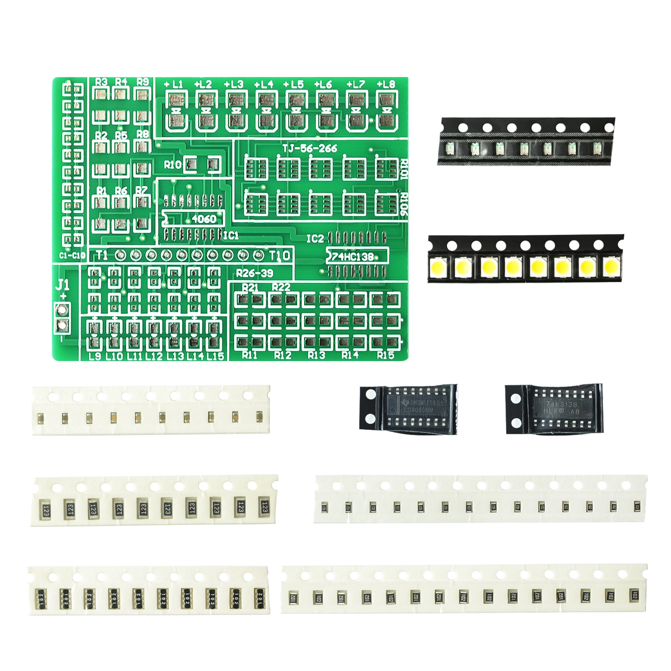 Diy kit 15 color light controller kit 1801 SMD component welding practice board parts electronic production kit