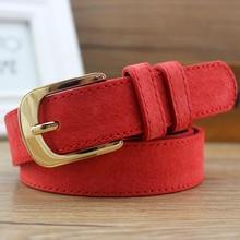 2016lgfd916   women's belt vintage nubuck  SUEDE MAN MADE LEATHER   belt female brief fashion pin buckle DRESS BELT