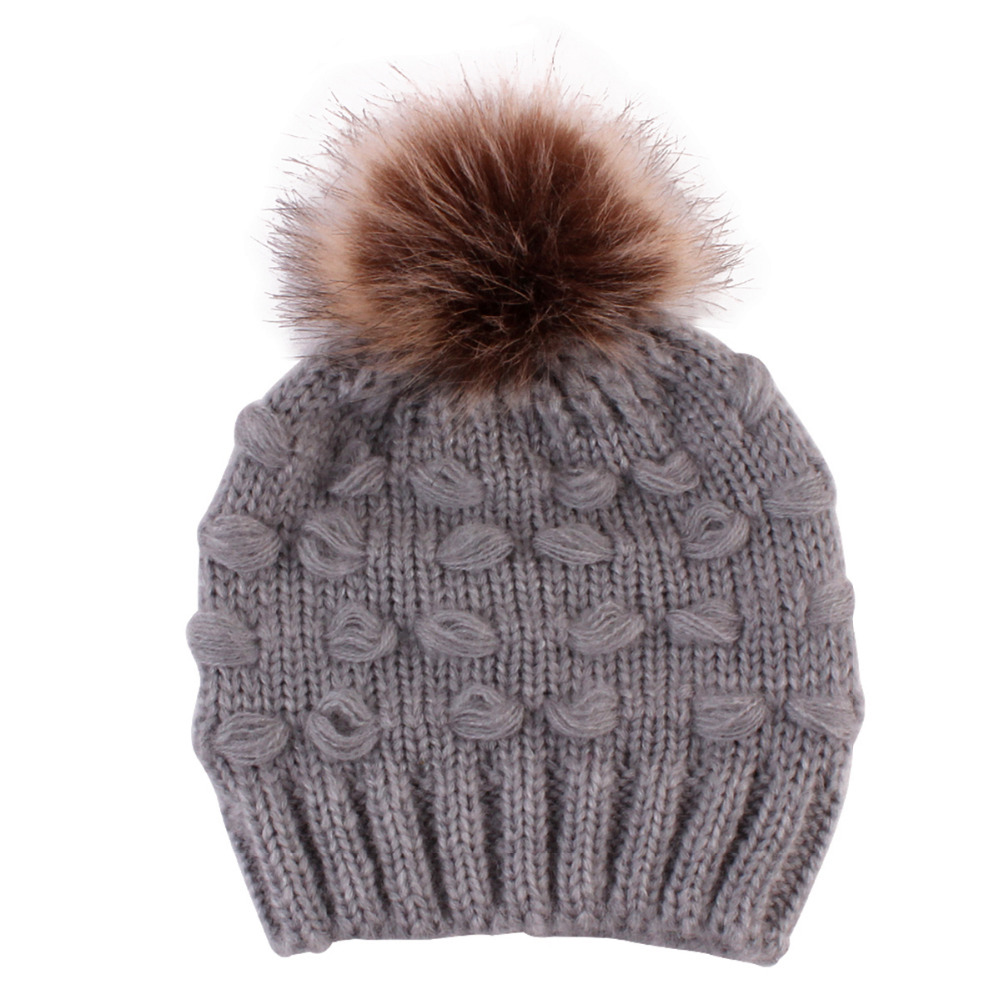 Punctual Ultra Soft Beige/grey/black/pink Children Unisex Knit Beanie Cap Knitted Crochet Winter Warm Hat Beaauty Styling Tool For Casual Exquisite Traditional Embroidery Art Hair Care & Styling Beauty & Health