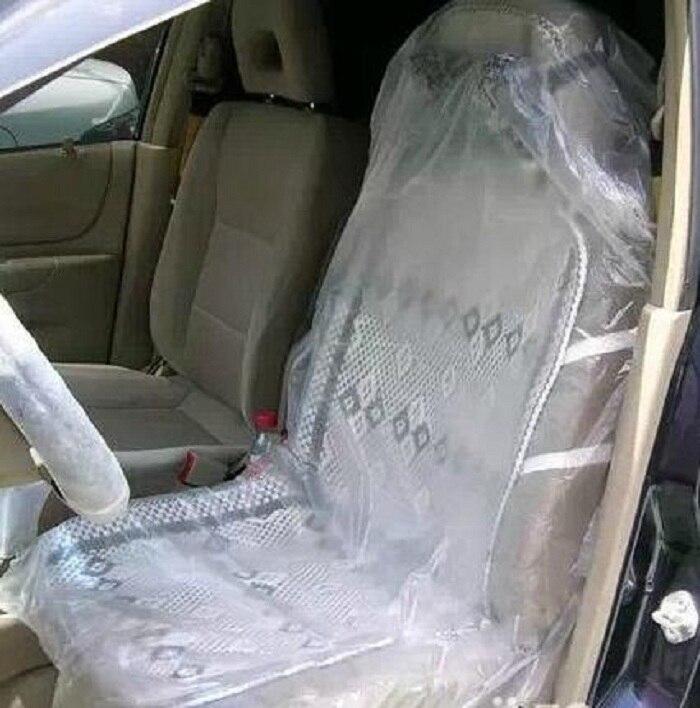 Одноразовые сидений автомобиля прозрачный пластиковый Универсальный водонепроницаемый защиты от пыли для ремонта домашних животных и т. д...