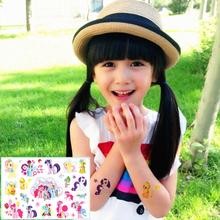 25 style Child Temporary Tattoo Body Art, My Pony Friends Designs, Flash Tattoo Sticker Keep 3-5 days Waterproof 17*10cm
