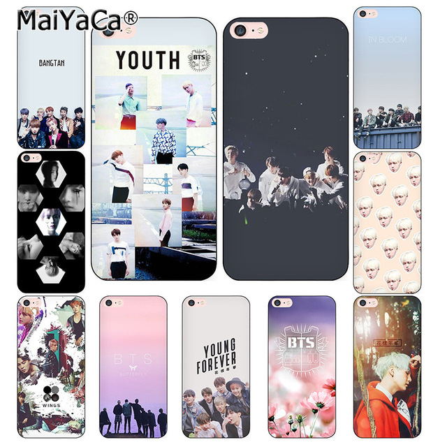 Phone Bags & Cases Half-wrapped Case Objective Maiyaca Bts Band Bangtan Boys For Iphone 4s Se 5c 5s 5 6 6s 7 8 Plus X Xr Xs Max Phone Cases Transparent Soft Tpu Cover Cases Outstanding Features