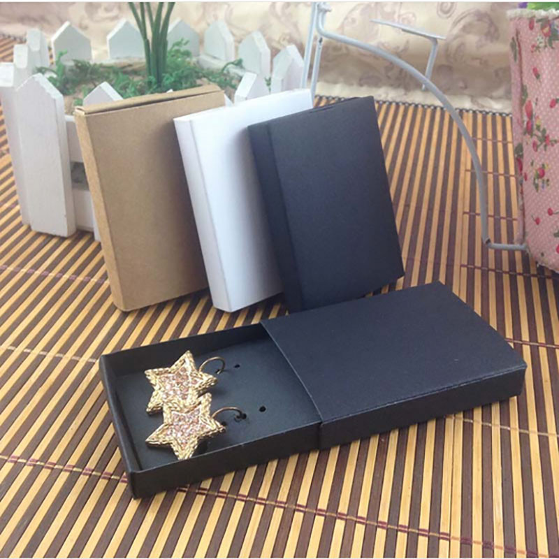 2000pcs slide box black color 7 3x5 4x1 2cm without inner card free shipping via express