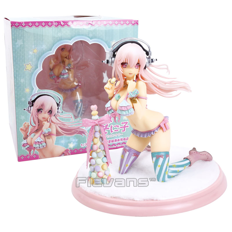 Super Sonico with Macaroon Tower 1 7 Scale Sexy Painted Figure Collectible Model Toy