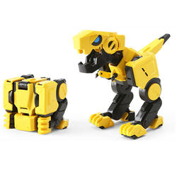 Кубик для снятия напряжения Magic cube трансформация Гараж Комплект динозавры деформируемого преобразования животного 4X4X4 Модель игрушечные