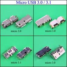 Гнездовой разъем yuxi micro usb 30/31 b типа smt для жестких