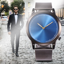 Brand Luxury Fashion Analog Quartz Watches Blue Ray Men WristWatch Casual Clock Business Male Watch Relogio Montre Homme Horloge цена 2017
