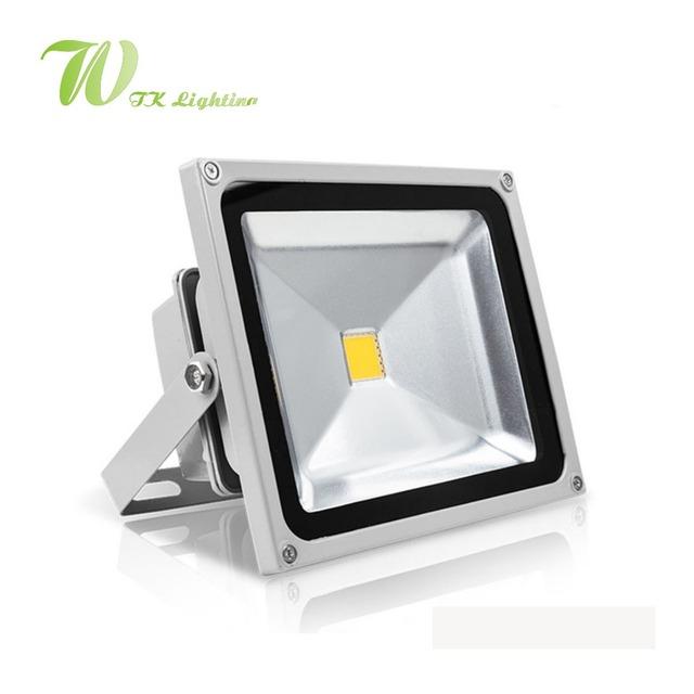 Luz De Inundação LEVOU 10 W 20 W 30 W 50 W LED Spotlight 85-265 V Iluminação Exterior Aeroespacial Quadrado de alumínio Luz Alta Forma de Iluminação de Rua