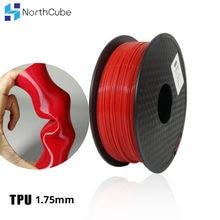 3D Printing Filament TPU Flexible Filament TPU Filament Plastic for 3D Printer 1.75mm Printing Materials Gray Black Red Color