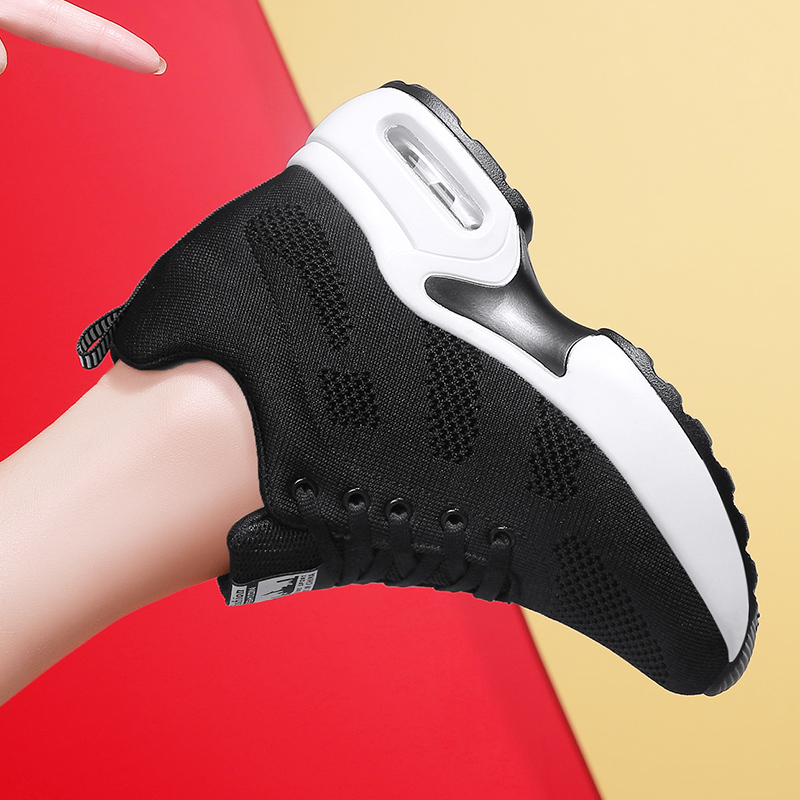 WADNASO Flying Knitting Fashion Sneakers Women Hide Heels Casual Shoes Breathable Platform Sneakers Wedge White Shoes XZ120 (25)
