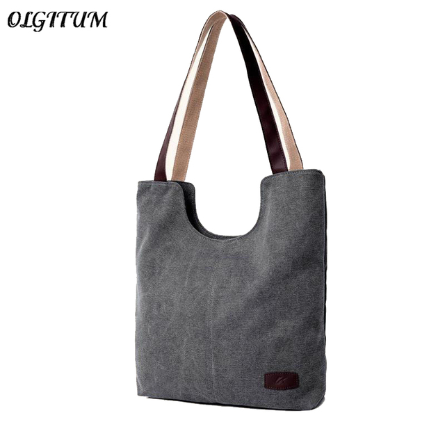 982dd734a Fashion Retro Tote Bag 2019 New Brand Cotton and linen Big Bag For Women  Simple Shoulder Bag Big Capacity Casual Canvas Handbag