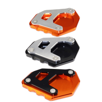 For KTM 1050 1090 1190 1290 Adventure Aluminum Kickstand Motorcycle Aluminum Foot Pad Plate Side Stand