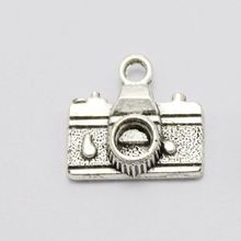 Vintage Silvers Delicate Camera Charms Pendants For Jewelry Making Findings Bracelets Handmade Crafts Accessories Gift 16*14mm