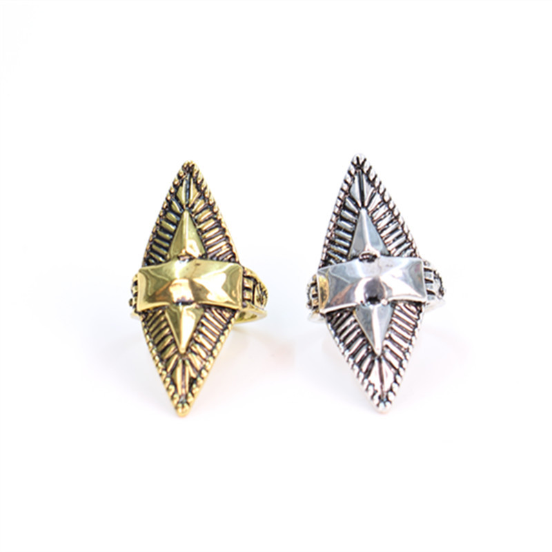 Fashion restoring ancient ways pattern rings, Antique Gold-color/Antique Silver Plated rings wholesale free shipping