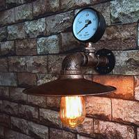 Loft lamps Vintage imitated water pipe E27 wall light for bedroom restaurant pub cafe bar corridor aisle light retro wandlamp