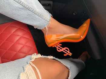 Summer See-through PVC Pumps Women Stiletto High Heels Clear Sexy Ladies Shiny Pointed Toe Pumps Special Design Party Shoes