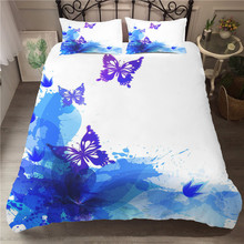 A Bedding Set 3D Printed Duvet Cover Bed Butterfly Home Textiles for Adults Bedclothes with Pillowcase #HD02