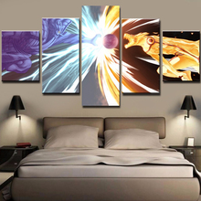 Decor Canvas Art Prints Wall Modular 5 Panel Cartoon Naruto Character Modern Frames For Paintings Picture Kids Room Poster
