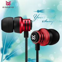 New EINSEAR T2 10MM Dynamic Drive Unit In Ear Earphone Bass HIFI With Microphone Earphone Metal