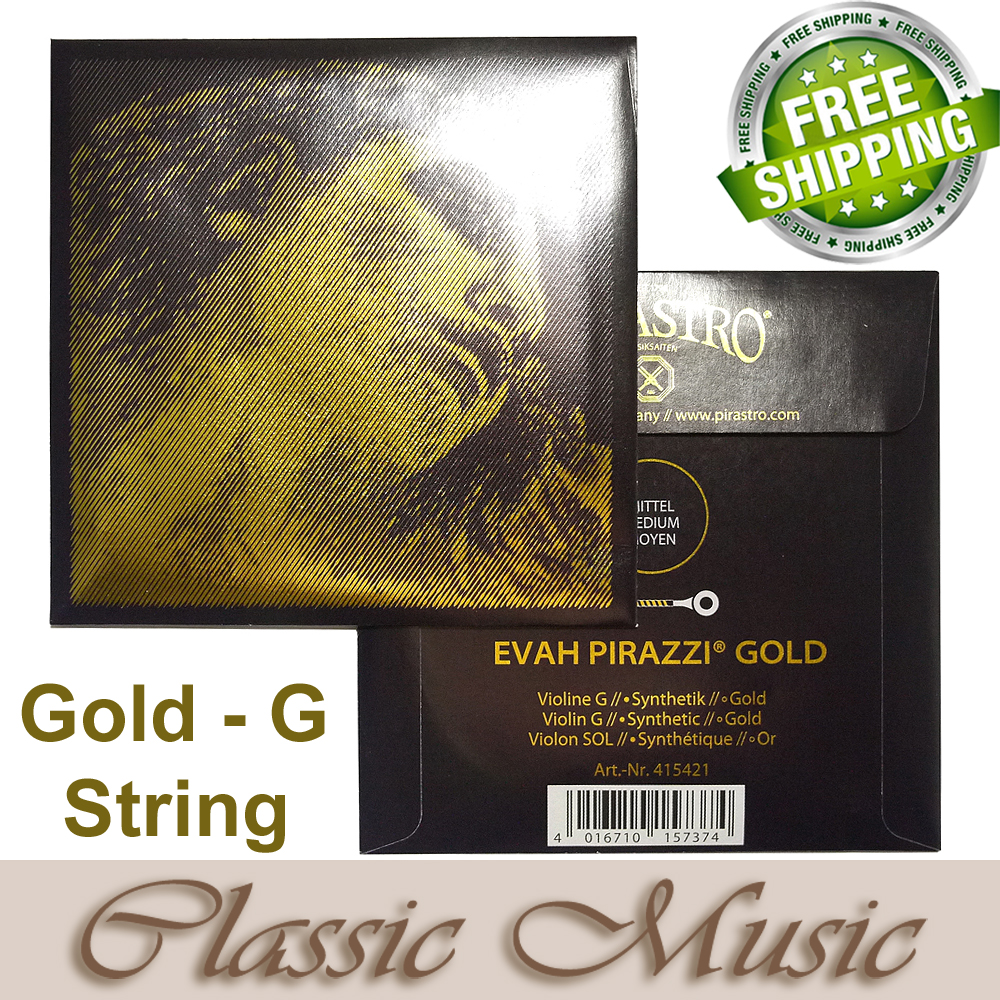 Free shipping ,Evah Pirazzi Gold  Violin String , Gold G string , made in Germany original pirastro evah pirazzi gold violin strings full set gold g for 4 4 made in germany free shipping