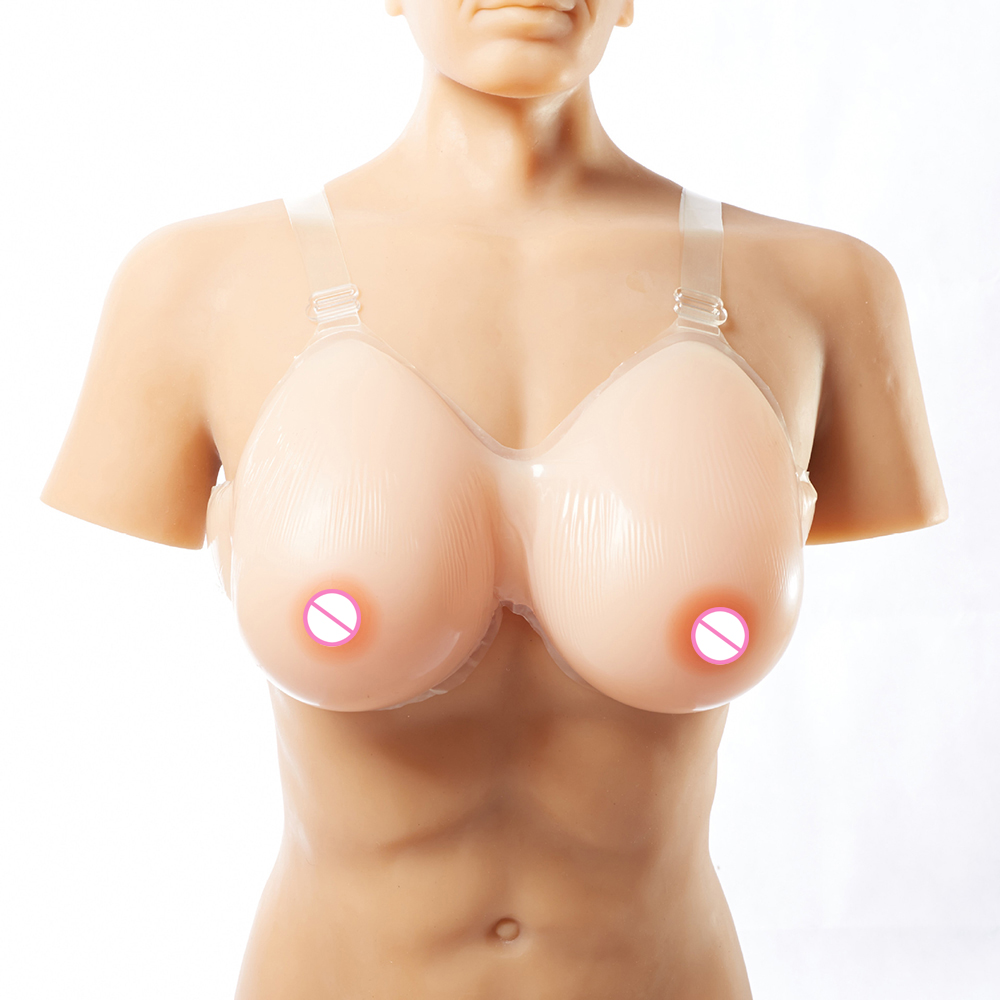 800g/pair C Cup Silicone Breasts Forms Fake Boobs for Transvestite Drag Queen with Strapon Crossdresser Fake Tits