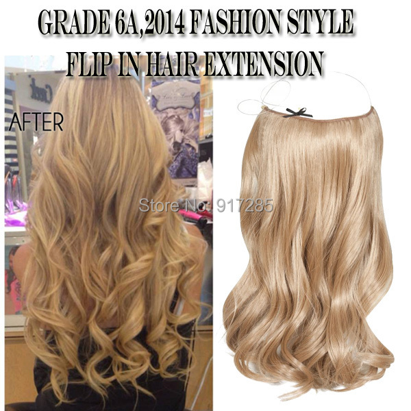 Natural Wave Halo Hair Extensions100gpc Best Quality