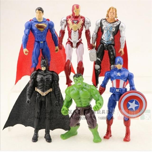 6 pçs/set Super Heroes O Avengers3 Figuras de Ação do Homem Aranha Spiderman Brinquedos Filme de Desenhos Animados Bonecas Modelo 11 cm Frete grátis