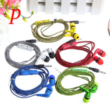 HIFI 3.5mm In-Ear Earphone Crack Braided Headset With Mic Auriculares For iPhone Samsung HTC LG