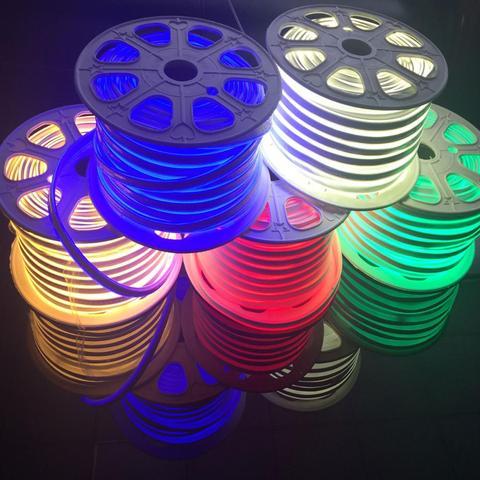 dc12v luz neon 2835 flexivel a prova d agua luz de neon sinal 14 mm