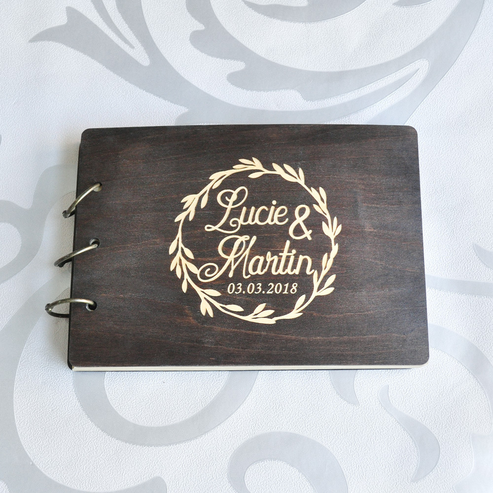 Personalized Country Wedding Gifts: Custom A4 Wedding Guest Book Personalized Wedding