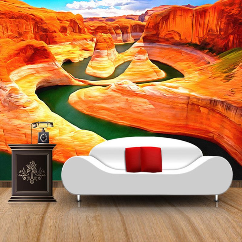 Custom Wall Mural Wallpaper American Grand Canyon Landscape Photography Background Large Painting Living Room 3D