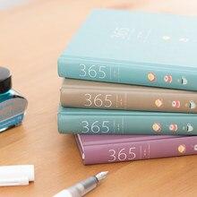 Bonito caderno de papelaria 365 planejador kawaii a5 semanal diário diário diário planejador 2021 cadernos ou revistas material escolar