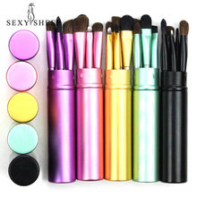 Sexysheep 5 Buah Perjalanan Portable Mini Eye Makeup Brushes Set Eyeshadow Eyeliner Alis Sikat Bibir Make Up Brushes Kit Profesional(China)
