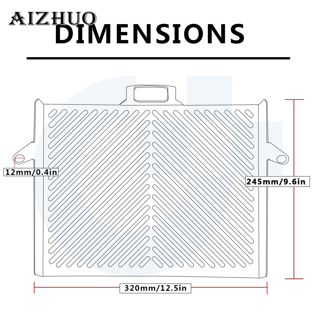 Motorcycle Radiator Guard Grille Protection Tank Cover For