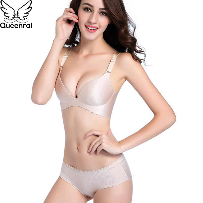 fd18fdbd6294 Queenral Seamless Women Lingerie Set Sexy Push Up Bra And Panty Sets  Underwear Bra Set Female