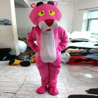 Pink Panther Cartoon Costume Performance Headgear Mascot Doll Mascot Costume Suit Adult size Festive day adult doll clothes