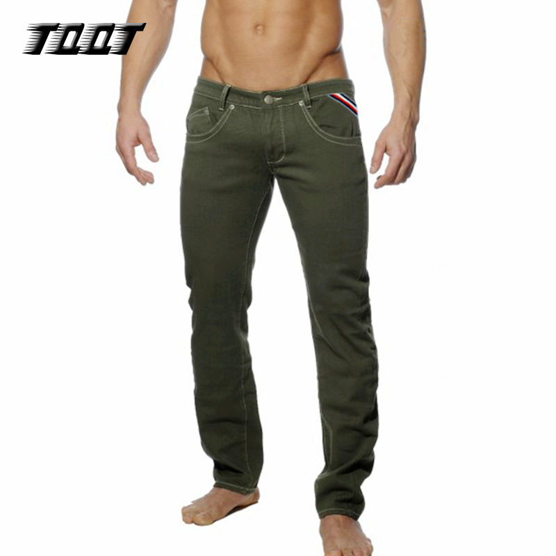 TQQT Male Pants Suit Business Straight Casual Long 5P0601 Sofetener-Material Colored