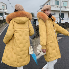 Brieuces 2020 new  High Quality Women Winter Jacket Outwear Hooded With Fur Collar Female Coat Long Warm Parka Abrigo Mujer