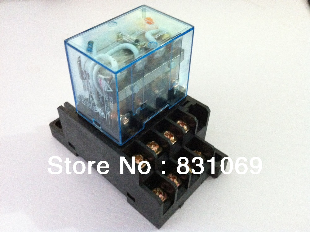 10 Sets Free Shipping  LY4NJ HH64P DC12V 14PIN 10A Power Relay Coil 4PDT With PTF14A Socket Base 10 sets free shipping ly4nj hh64p dc12v 14pin 10a power relay coil 4pdt with ptf14a socket base